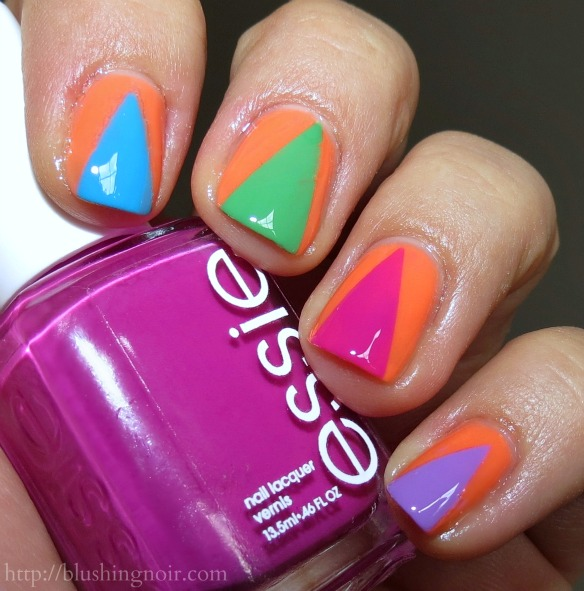 Essie Neons 2014 Nail Art #WalgreensBeauty #CollectiveBias #shop