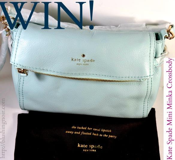 WIN a Kate Spade Mini Minka Cross Body Bag in Grace Blue!