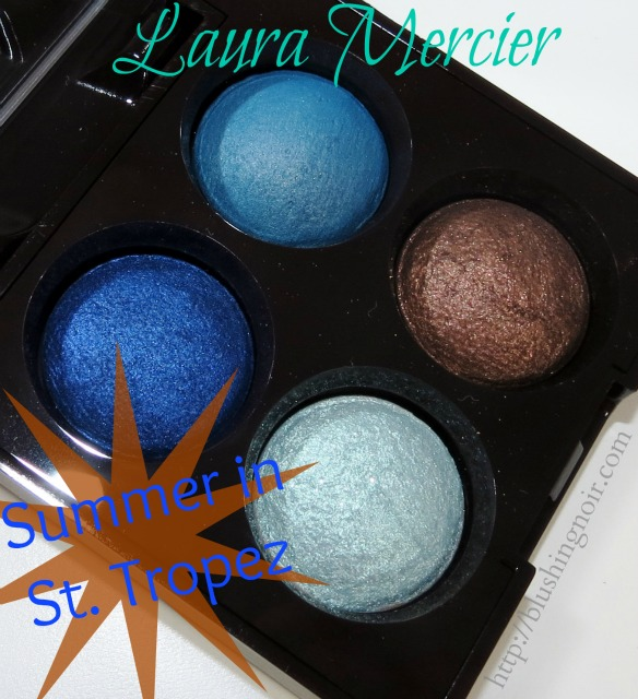 Laura Mercier Summer in St. Tropez Baked Eye Shadow Quad Photos Review Swatches