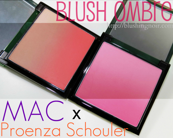 MAC Sunset Beach Ocean City Blush Ombre Swatches Review Proenza Schouler #PSMAC