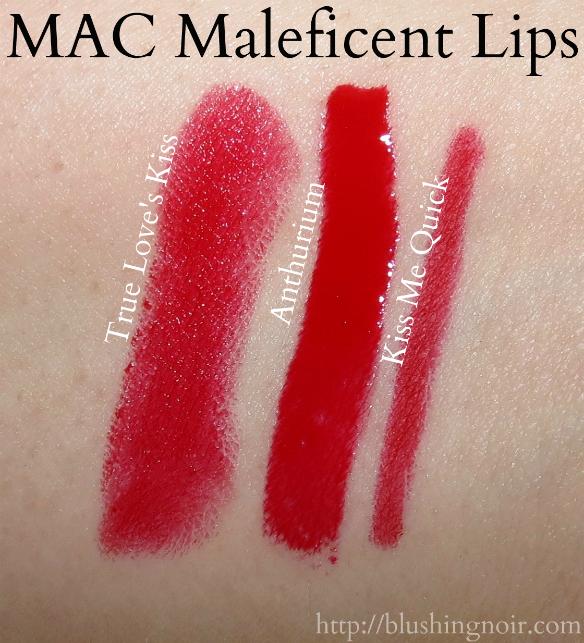 MAC True Loves Kiss Anthurium Kiss Me Quick swatches