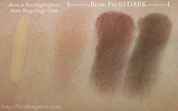Milani Brow Swatches