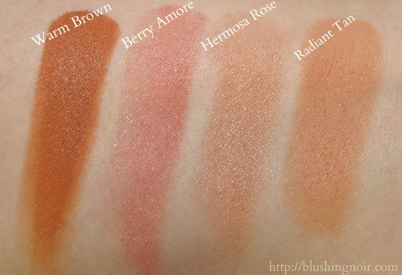 Milani Face product swatches