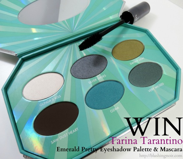 Tarina Tarantino Emerald Pretty Eyeshadow Palette & Fleur de Lash Mascara Swatches, Review & Giveaway!