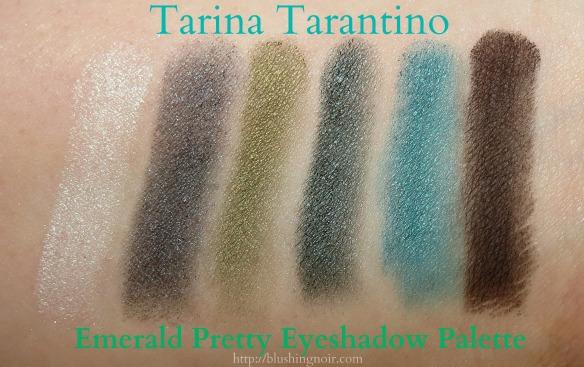 Tarina Tarantino Emerald Pretty Eyeshadow Palette Swatches