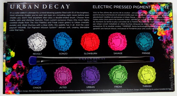 Urban Decay Electric Pressed Pigment Palette back