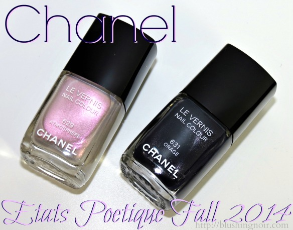 Chanel Etats Poetique Fall 2014 Swatches Review Nail Art Polishes