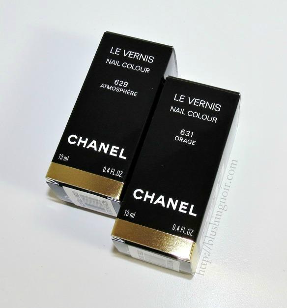 Chanel Orage 631 Atmosphere 629 Le Vernis Nail Colour