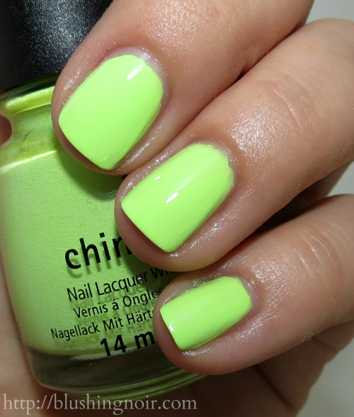 China Glaze Grass is Lime Greener Nail Polish Swatches