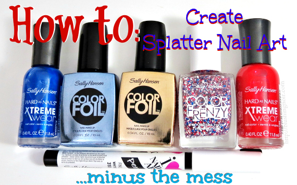 How to Create Splatter Nail Art #MySummerLook #CollectiveBias