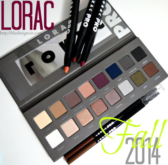 LORAC Fall 2014 swatches review