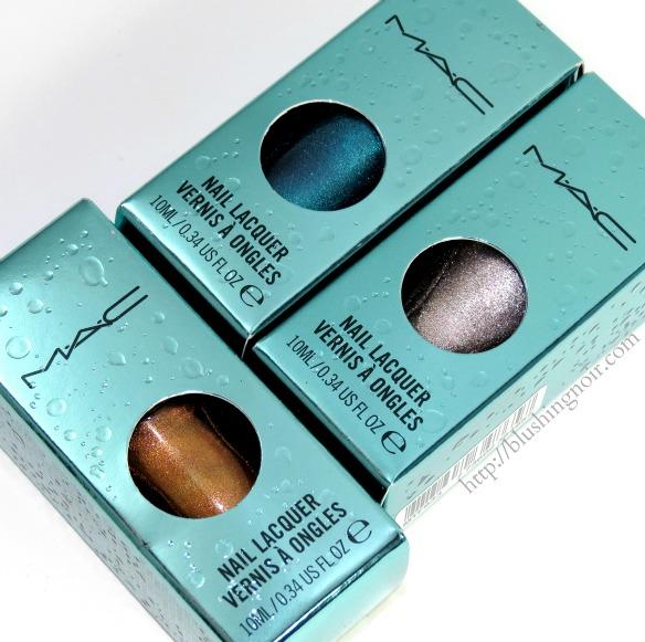 MAC Alluring Aquatics Nail Lacquer Swatches Review