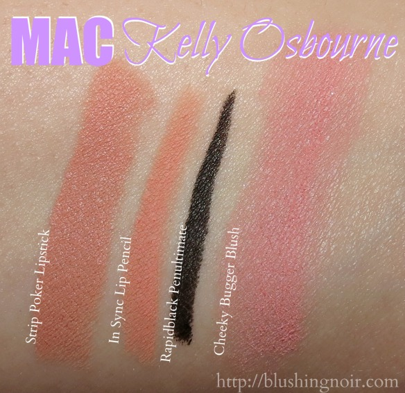 MAC Kelly Osbourne Collection Swatches
