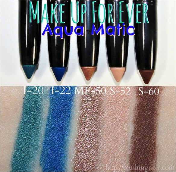Make Up For Ever Aqua Matic Swatches