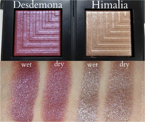 NARS Desdemona Himalia Dual-Intensity Eyeshadow Swatches