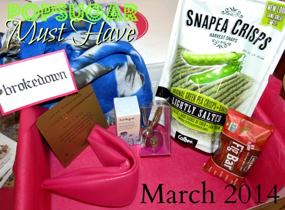 POPSUGAR Must Have Box March 2014 contents