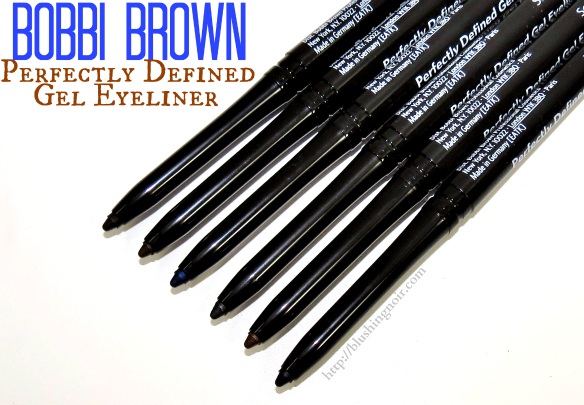 Bobbi Brown Perfectly Defined Gel Eyeliner Swatches + Review