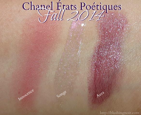 Chanel États Poétiques blush lip Swatches