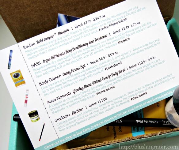July 2014 Beauty Box 5 contents