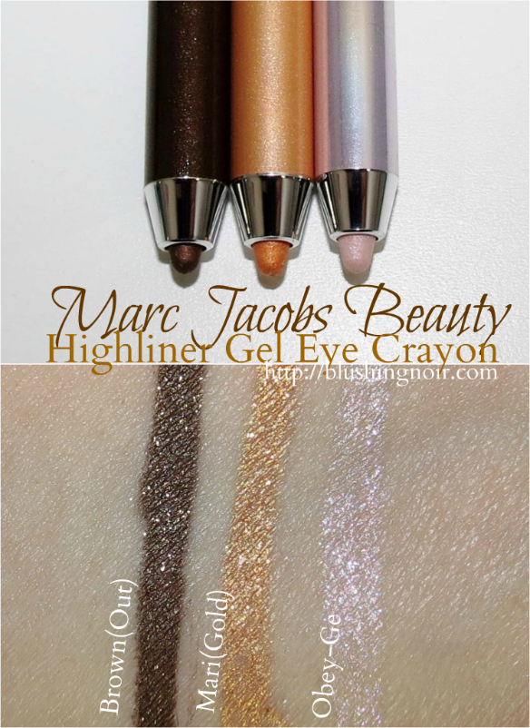 Marc Jacobs Highliner Gel Eye Crayon Swatches