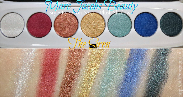 Marc Jacobs The Siren Style Eye-Con No.7 - Plush Shadow Swatches