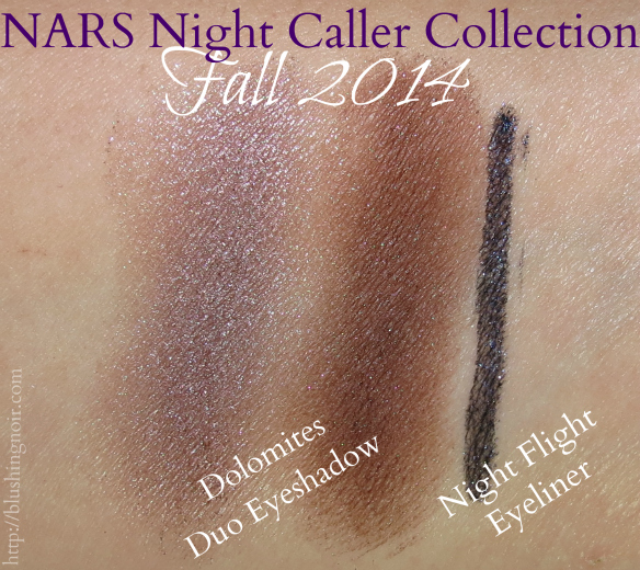 NARS Night Caller Collection Dolomites Night Flight Swatches