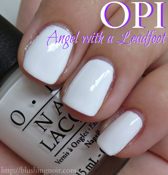 OPI Angel with a leadfoot nail polish swatches