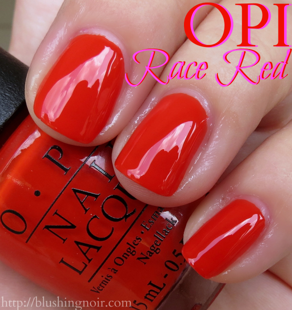OPI Race Red Nail Polish Swatches