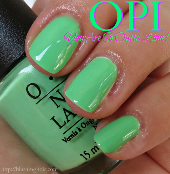 OPI You Are So Outta Lime Nail Polish Swatches