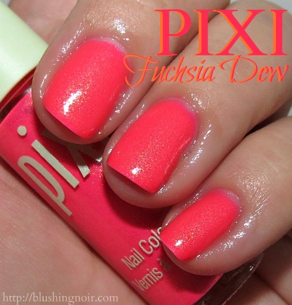 Pixi Fuchsia Dew Nail Polish Swatches 2