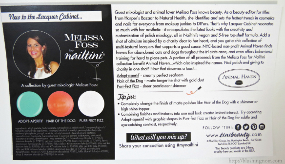 The Lacquer Cabinet Melissa Foss for Nailtini