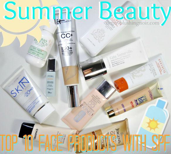 Top 10 Face Products with SPF