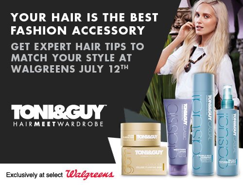 Join Toni&Guy® for an exclusive Saturdate at Walgreens + a Giveaway!