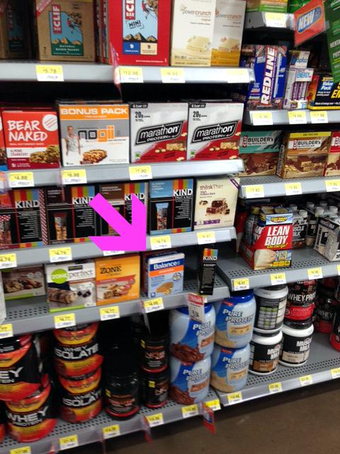 BalanceBars shelf