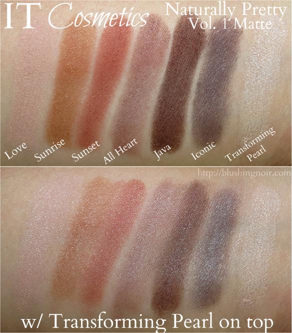 IT Cosmetics Naturally Pretty Vol. 1 Matte Swatches 2