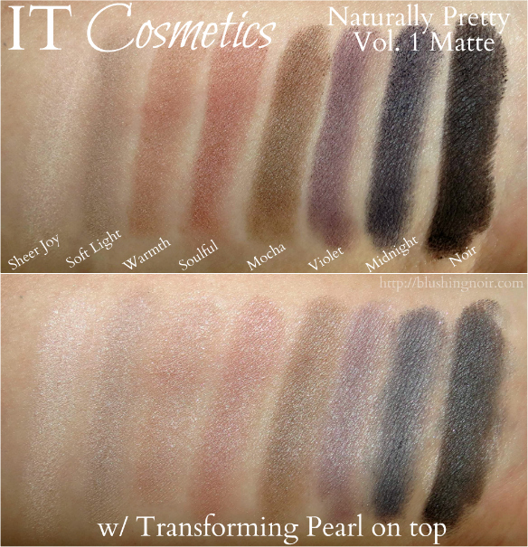 IT Cosmetics Naturally Pretty Vol. 1 Matte Swatches top