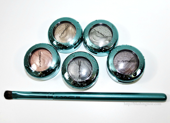 MAC Alluring Aquatic Extra Dimension Eye Shadows Swatches Review