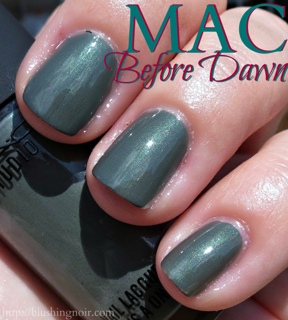 MAC Before Dawn Nail Polish Swatches sun