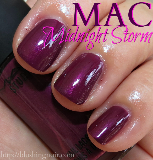 MAC Midnight Storm Nail Polish Swatches flash