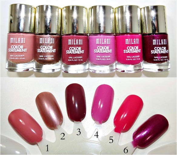 Milani Color Statement Nail Lacquer Swatches 3
