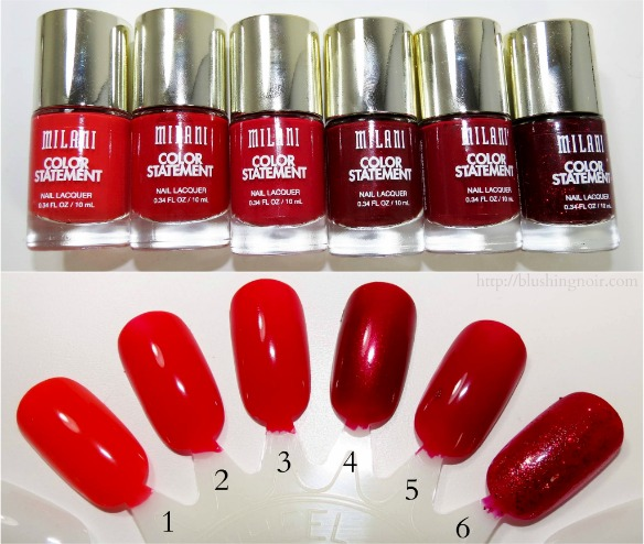 Milani Color Statement Nail Lacquer Swatches 4