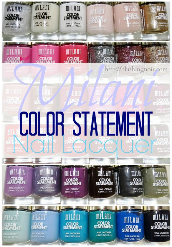 Milani Color Statement Nail Lacquer Swatches Review