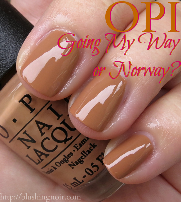 OPI Going My Way or Norway Nail Polish Swatches