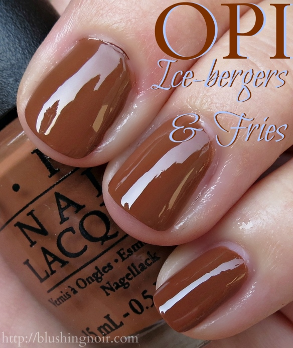 OPI Ice-Bergers & Fries Nail Polish Swatches