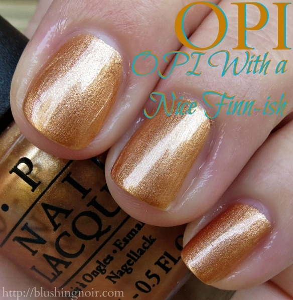 OPI OPI With a Nice Finn-ish Nail Polish Swatches