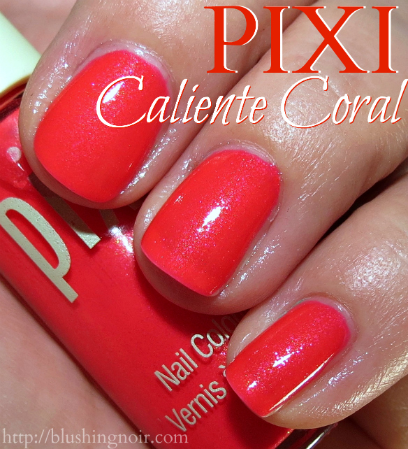 Pixi Caliente Coral Nail Polish swatches
