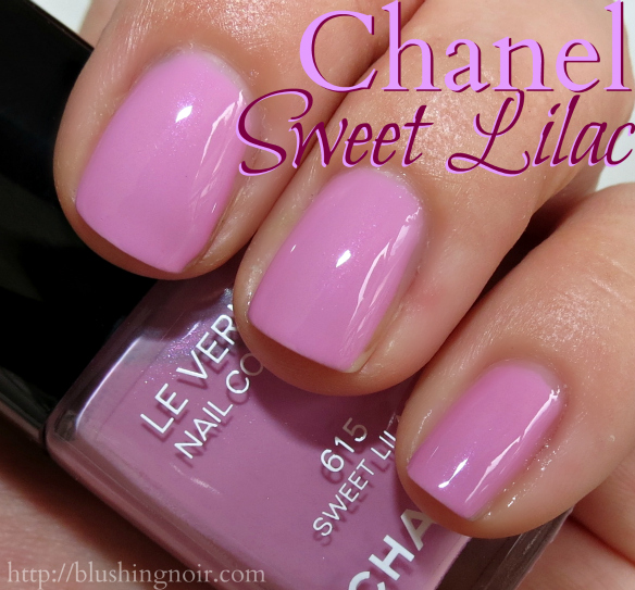 Chanel Sweet Lilac Nail Polish Swatches