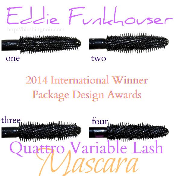 Eddie Funkhouser Quattro Variable Lash Mascara Swatches Review Photos