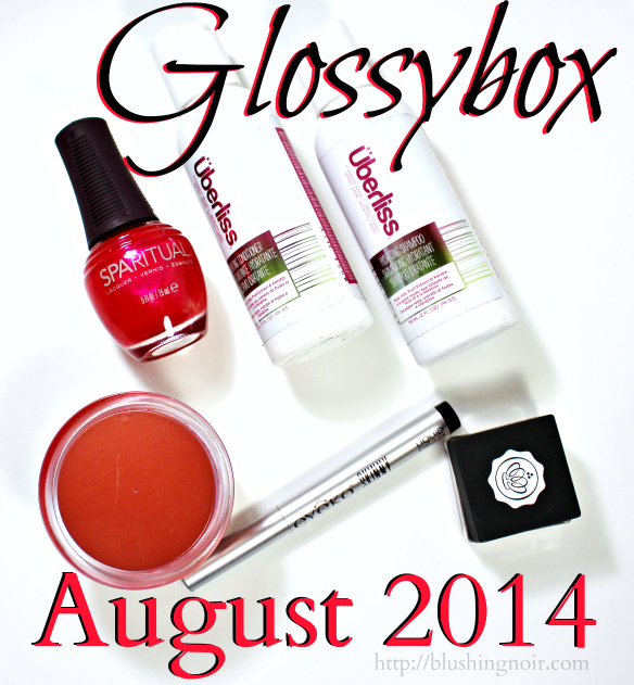 Glossybox August 2014 Swatches Review Photos