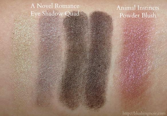 MAC A Novel Romance Quad Animal Instincts Blush Swatches